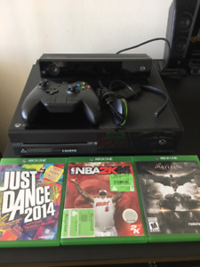 Xbox One Kinect bundle 500GB Black Console w/games