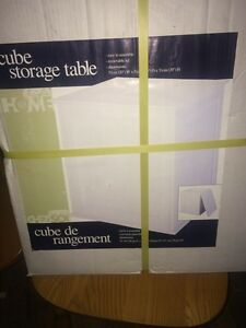$20!! Cube storage table new still in box