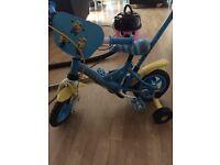 Toddler minion bike