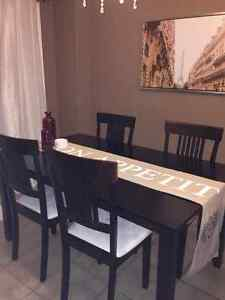 Dinette set with 6 chairs Cambridge Kitchener Area image 1