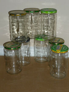 8 Large Salsa Jars .. Clean .. As shown .. Ready to use ..645 ml Cambridge Kitchener Area image 1