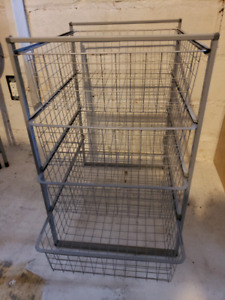 IKEA Algot frame with 4 wire baskets