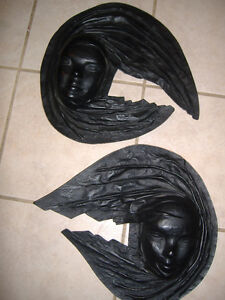 Brazilian leather face wall hangings - decor items Kitchener / Waterloo Kitchener Area image 2