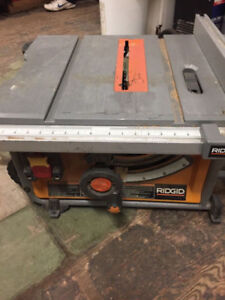 Ridgid 10in table saw good condition