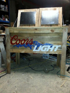 rustic wooden coolers