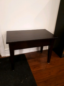 Maple lift-top table