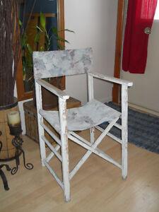 """2 chaises ANTIQUE pliantes ... style  """"metteur en scene """""""