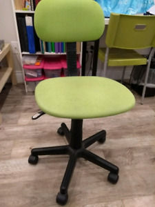 Office revolving desk chair and Ikea Lack side table