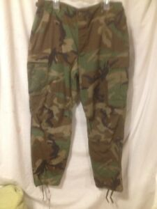 New Army Issue Mens Medium Weight Camouflage Pants Sz Lrg