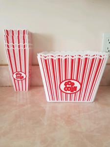 Retro Popcorn Bowls Set