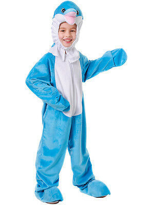 Boys Girls Childs Childrens Animal Big Head Dolphin Mascot Fancy Dress Costume