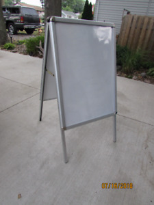 A-Frame Sign Magnetic Free Standing Easel $75