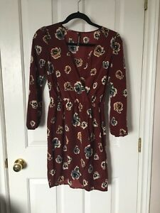 Floral Wrap Dress - Peppermint - Size Small