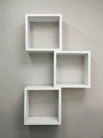 Retail Shop Display Wooden Boxes Shelves
