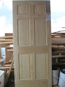 Brand new clear pine interior door