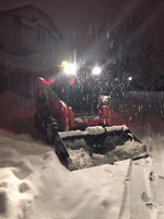 Snow removal by skid steer