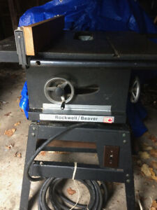"10"" Rockwell Beaver Table Saw"