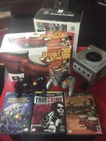 Limited Edition Platinum Game Cube w Donkey Bongo Set + Games