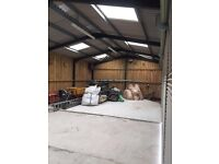 Secure New Barn ideal for storage or workshop 105m2