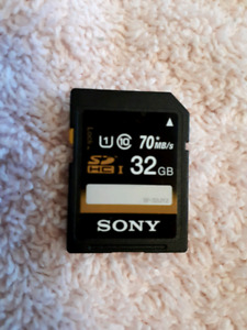 Pre Owned Formatted Sony 32 Gig SD Card 1U  Text 506 607 0708