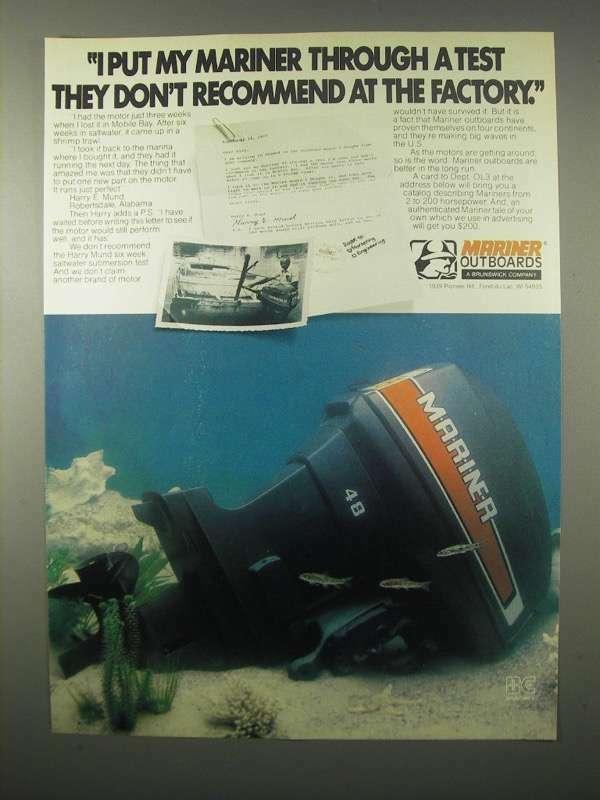 1980 Mercury 48 Outboard Motor Ad - Don