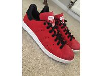 Adidas Red Stan Smith Flyknit RARE