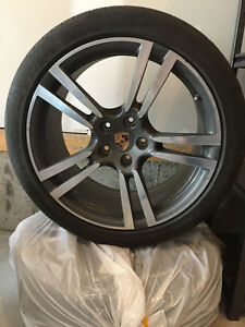 "21"" Porsche Turbo Wheels and Tires"