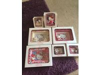 Hello kitty collector - large and mini photo frames and 2 figures