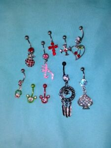 Belly Button Rings - $40 for all 10 or $5 each