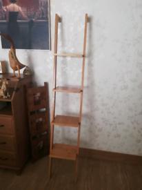 Ladder back shelving unit