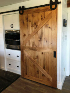 Spring sale - space savingf barn door hardware