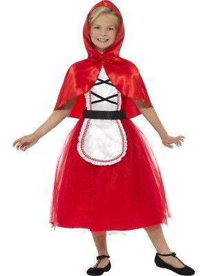 Girls Cute Red Riding Hood Costume Fancy Dress Medium 7-9 Book Day Fairy - Princess Red Riding Hood Child Costume