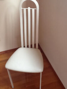 Dining Room Chairs- High Back-Cream Colour
