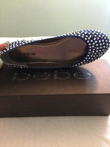 Womens Bebe Royal blue studded flats size 7