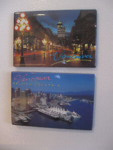 "PAIR  of ""VANCOUVER"" COLOURFUL FRIDGE DOOR MAGNETS"