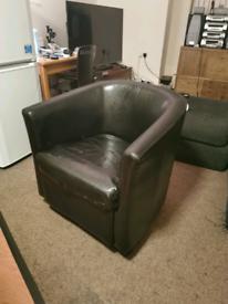 Tub chair dark brown