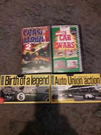 4 x vintage car vhs videos