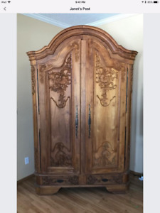 Gorgeous Carved Armoire
