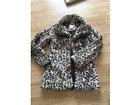 Leopard coat excellent condition size 10