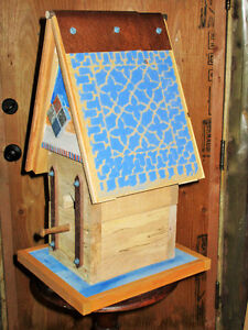Decorative Blue Lace Bird Cabin- Hand crafted!
