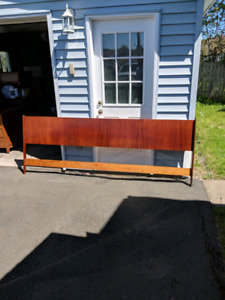 Giant Teak King/Queen Headboard mid century modern MCM