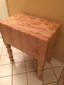 solid maple butcher block hand made