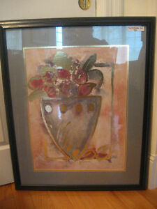 FRESH STYLISH OLD VINTAGE FRAMED & MATTED CONTEMPORARY ART