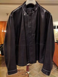 BLACK LEATHER ARMANI JACKET