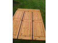 Pine wardrobe doors