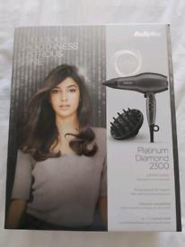 BaByliss Platinum Diamond 2300 Hairdryer ~ BRAND NEW IN BOX
