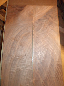 Bookmatched walnut pair,, 7 1/2 x20 1/2 each board:    see pictu