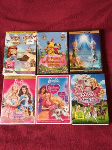 Plusieurs DVD 3$ chacun - Barbie-Disney-Dora