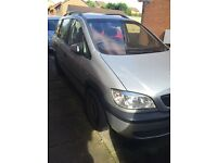 2x Vauxhall Zafria Spares or Repairs