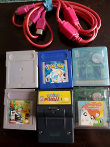 Assorted gameboy game and adapter